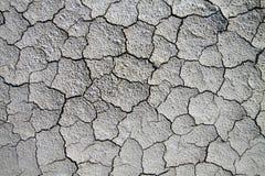Trockener gebrochener Boden. Stockbild