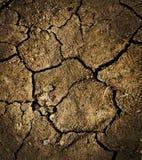 Trockener gebrochener Boden Lizenzfreies Stockfoto