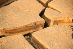 Trockener gebrochener Boden Lizenzfreie Stockfotografie