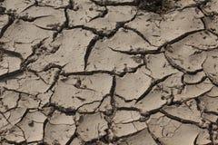 Trockener gebrochener Boden Stockfoto