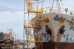 Trockener Hafen stockbild