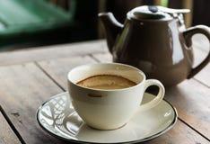Trockener Kaffeefleck Stockbilder