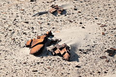 Trockener Lehmsand lizenzfreie stockfotos