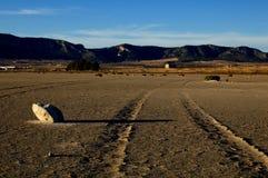 Trockener Salzsee - Wüstenlandschaft Lizenzfreies Stockfoto