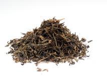 Trockener schwarzer Tee Stockfotografie