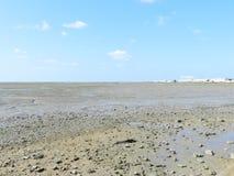 Trockener Strand in Cadiz lizenzfreie stockfotografie