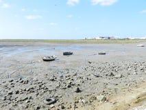 Trockener Strand in Cadiz stockfotos