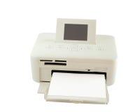 Trockener Sublimationsdrucker und Papier lokalisiert, Beschneidungspfad Stockfotos