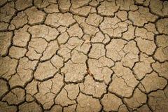 Trockener und gebrochener Erdehintergrund Stockfotos