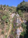 Trockener Wasserfall Stockbild