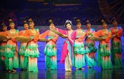 Trockener wolfberrys-Hui Ballettmond über Helan Stockbild