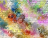 Trockenes Acryl malt Fleck Kreativer abstrakter handgemalter Hintergrund Malende Acrylanschläge auf Segeltuch Moderne Kunst lizenzfreie abbildung