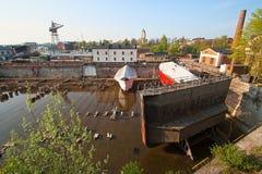 Trockenes Dock Stockfotografie