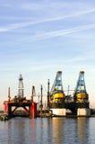 Trockenes Dock Stockbild