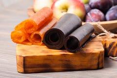 Trockenes Fruchtleder Stockfoto