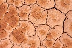 Trockenes gebrochenes im Boden, Bodengrundbeschaffenheit lizenzfreies stockbild