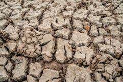 Trockenes gebrochenes Land Stockbild