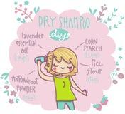 Trockenes Shampoo tun es sich Stockfotos