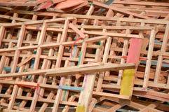 Trockenes Sperrholz aus den Grund Lizenzfreies Stockfoto