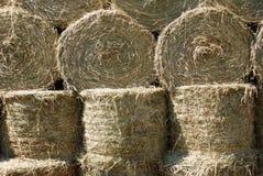 Trockenes Stroh emballiert Hintergrund Stockfoto
