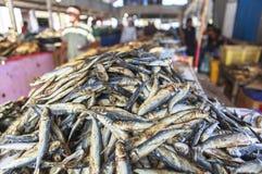 Trockenfisch-Fischmarkt in Labuan Bajo, Flores-Insel, Indonesien stockfotos
