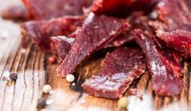 Trockenfleisch vom Rind Lizenzfreies Stockbild