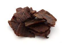 Trockenfleisch vom Rind Stockbild