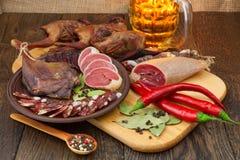 Trockenfleischstillleben stockfoto