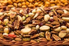 Trockenfrüchte im Detail von einem Markt Stockbilder