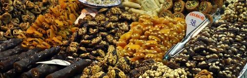 Trockenfrüchte-Speicher Stockfotos