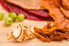 Trockenfrüchte- und Fruchtkuchen Stockfotos