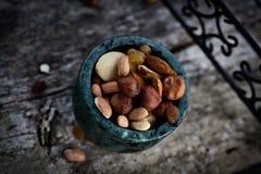 Trockenfrüchte und Nüsse Stockfotografie
