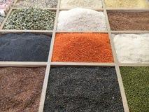 Trockenfrüchte und Nüsse geholt von Asien und in Europa verkauft stockfoto