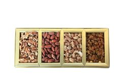 Trockenfrüchte und Nuss-Geschenkbox Lizenzfreies Stockbild