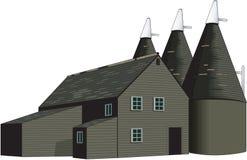 Trockenschuppen-Vektor-Illustration lizenzfreie abbildung