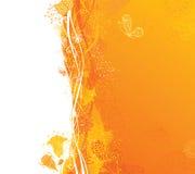 Trocknen Sie Blätter einer Anlage auf dem alten befleckten grungy Papier Lizenzfreies Stockfoto