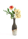 trocknen Sie Blumen in einem Vase Stockbild