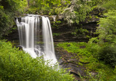 Trocknen Sie Fall-Hochländer NC-Wasserfall-Natur-Landschaft stockfotos