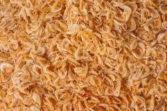 Trocknen Sie konservierte Garnelen im Meeresfrüchtemarkt. Lizenzfreies Stockbild