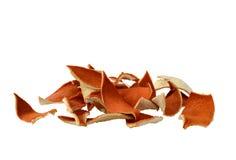 Trocknen Sie orange Schale stockbild