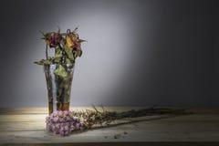 Trocknen Sie Rosafarbenes auf Holztisch Stockfotografie