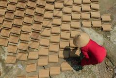 Trocknende Dachplatte Lizenzfreie Stockbilder