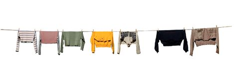 Trocknende Kleidung, getrennt Lizenzfreies Stockbild