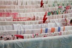 Trocknende Wäscherei nachdem dem Waschen Lizenzfreies Stockfoto