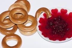 Trockner und Donut - slawische Küche der Bäckerei lizenzfreies stockbild