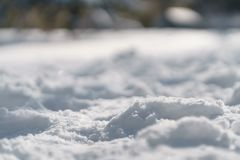 Trodden path in snow in the morning after snowfall Royalty Free Stock Photography