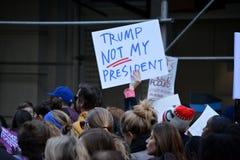 Troefprotesten stock foto's