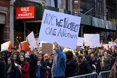 Troefprotesten stock foto