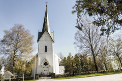 Troemborg Church. Trømborg church is a annex to the church of Eidsberg parish in Østfold, it is situated on the RV22 Rakkestad and Mysen, ca. six kilometers Stock Images