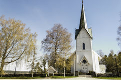 Troemborg Church. Trømborg church is a annex to the church of Eidsberg parish in Østfold, it is situated on the RV22 Rakkestad and Mysen, ca. six kilometers Stock Photo